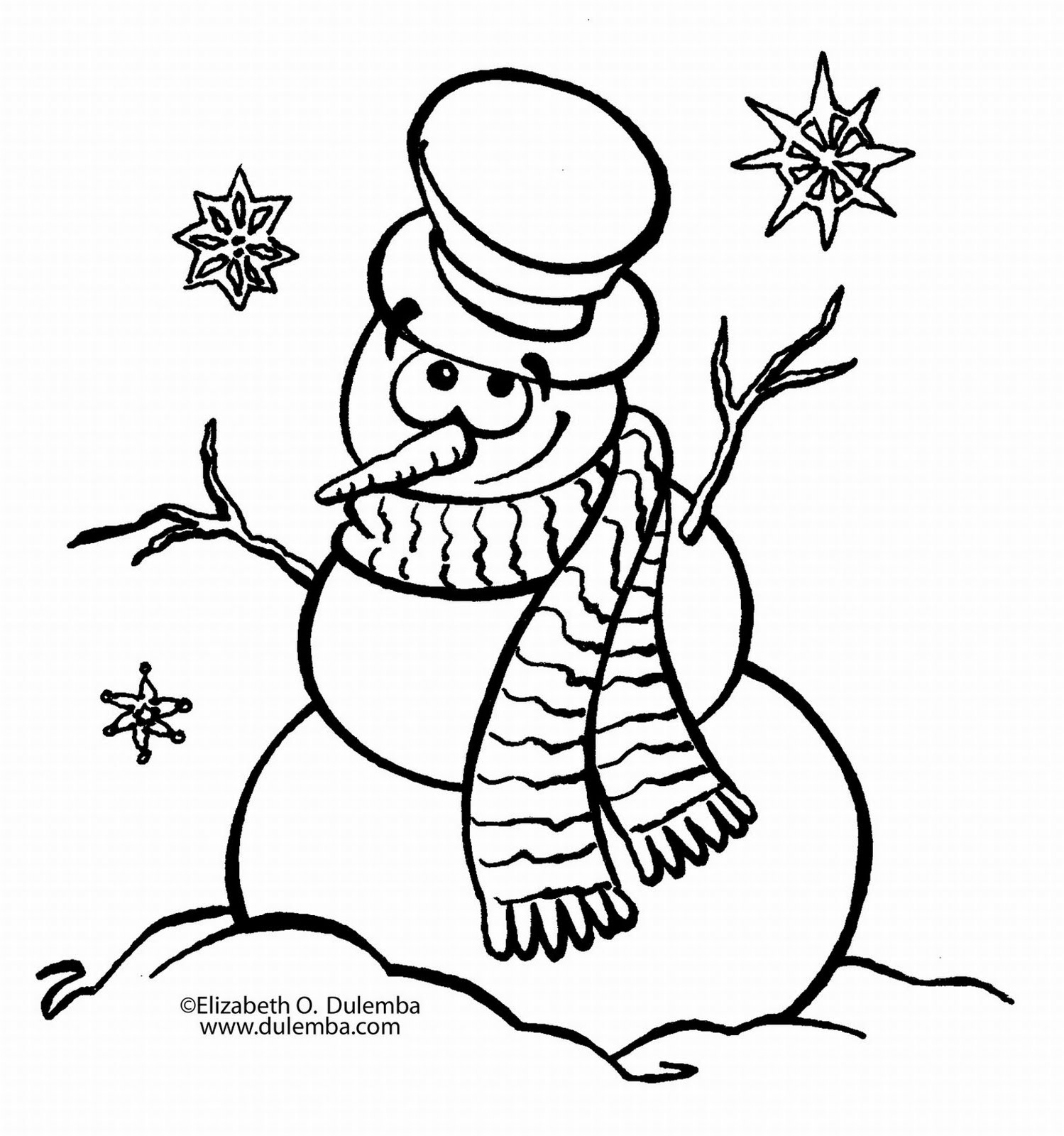 snowman coloring pages photo - 1