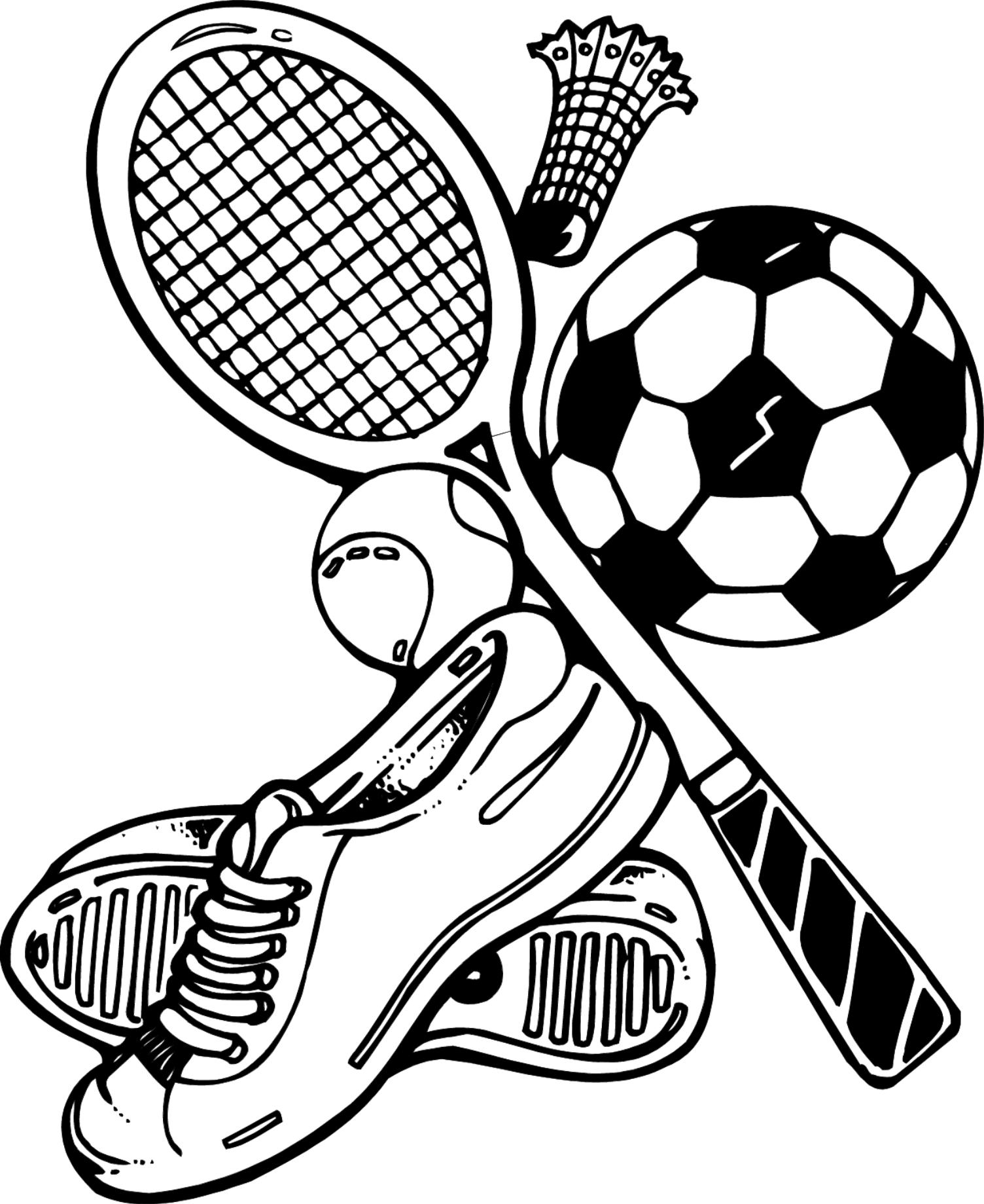 sports coloring pages photo - 1