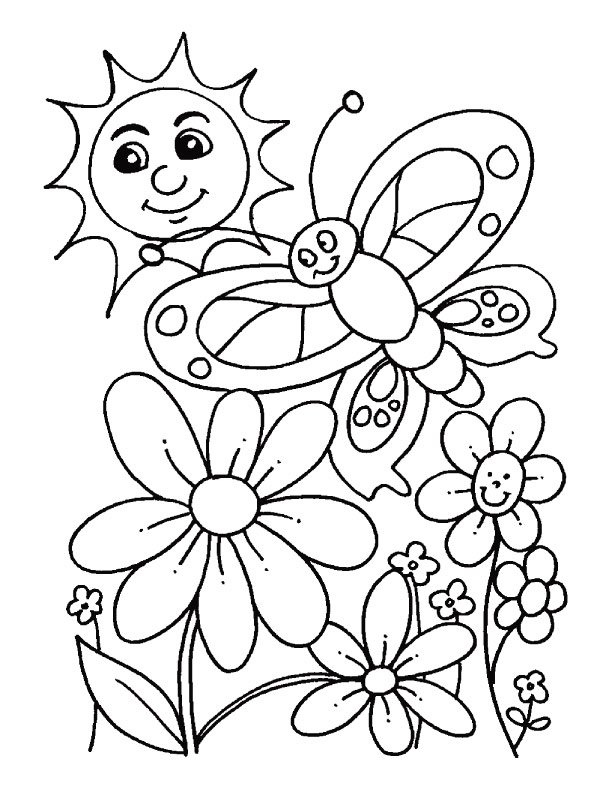 spring coloring pages photo - 1