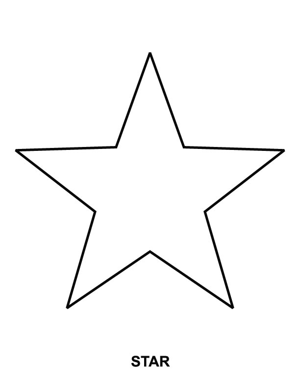 star coloring pages photo - 1