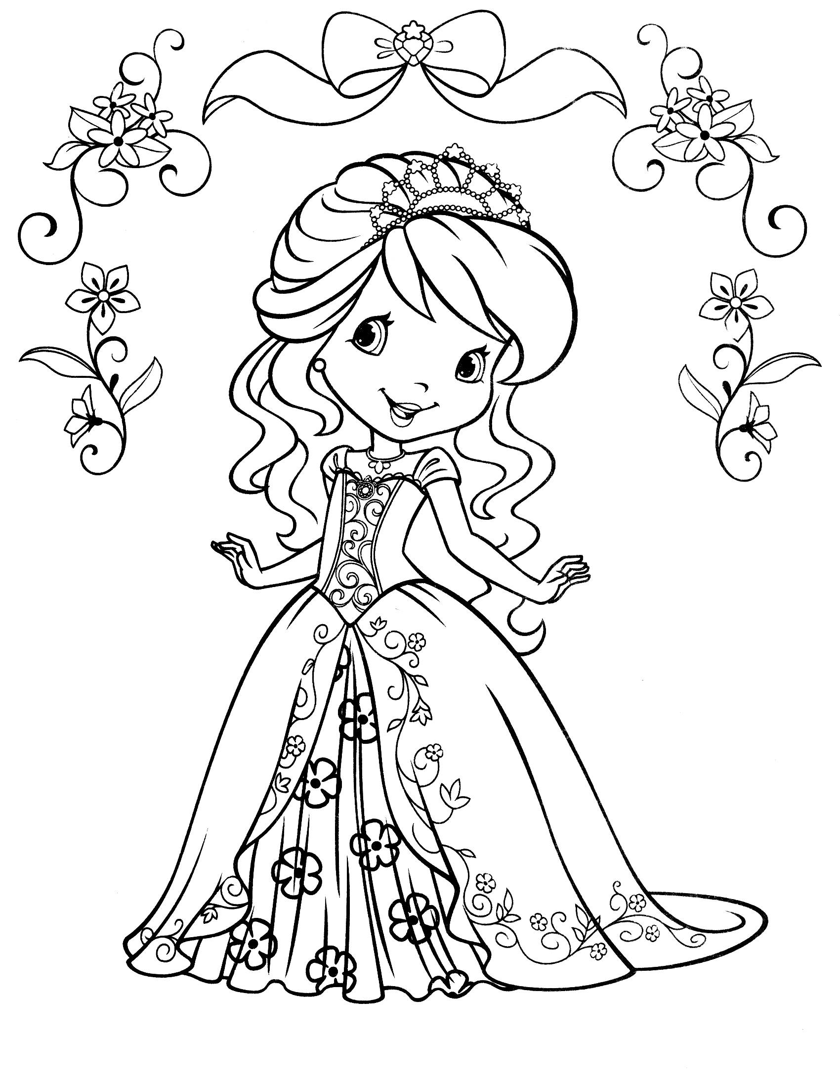strawberry shortcake coloring pages photo - 1