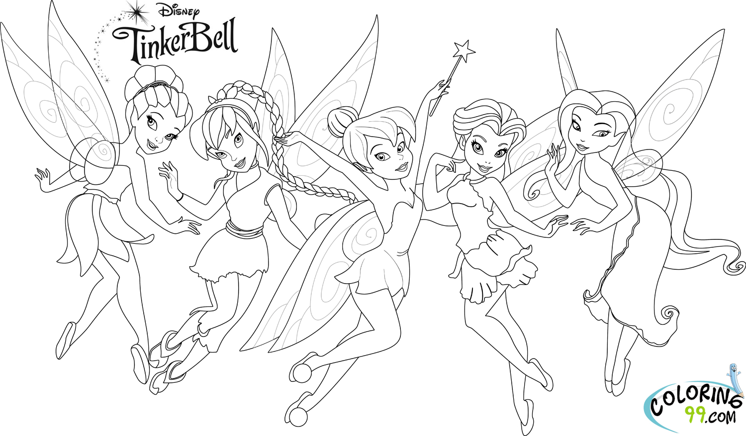tinkerbell coloring pages photo - 1