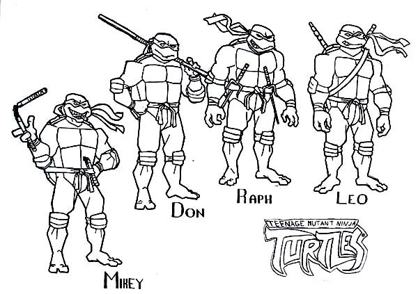 tmnt coloring pages photo - 1