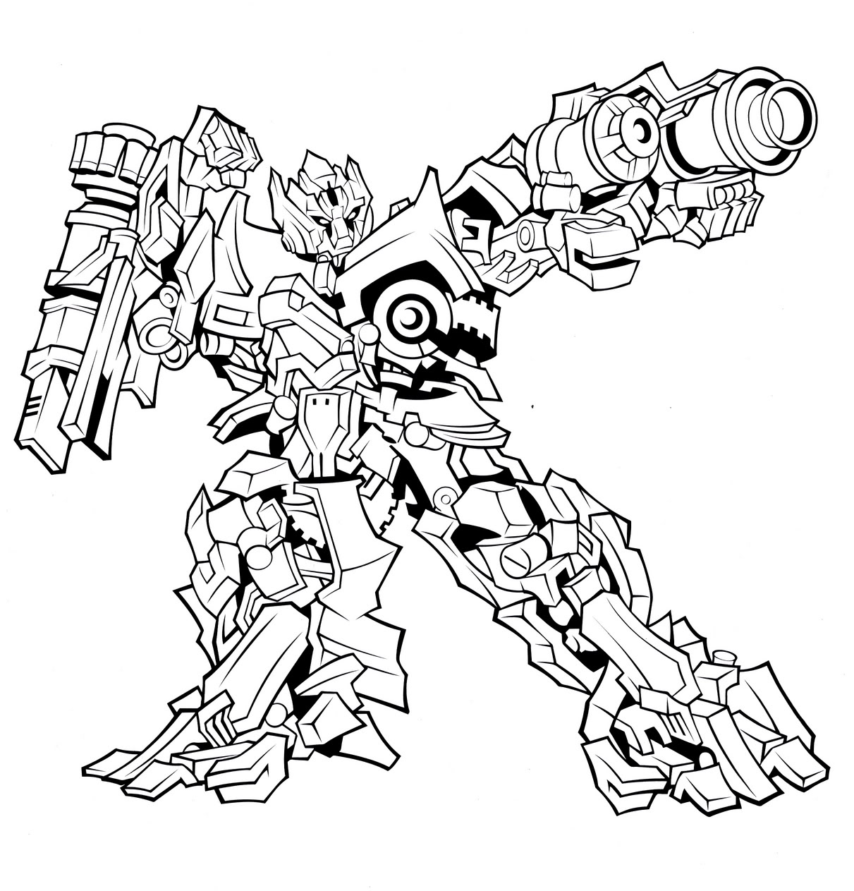 transformer coloring pages photo - 1