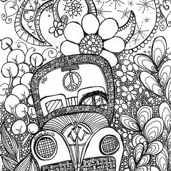 trippy coloring pages photo - 1