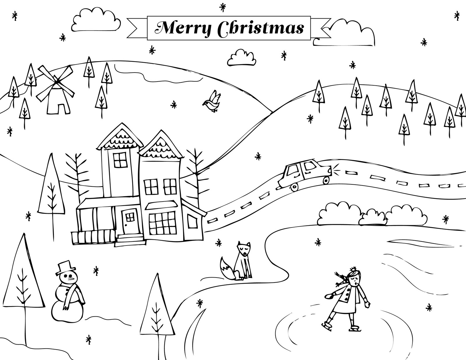 winter coloring pages photo - 1
