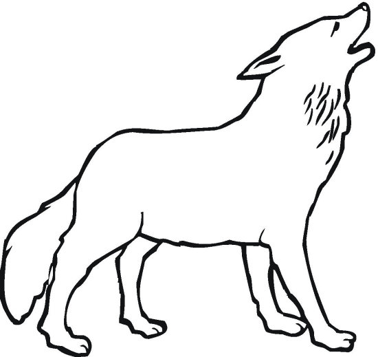 wolf coloring pages photo - 1