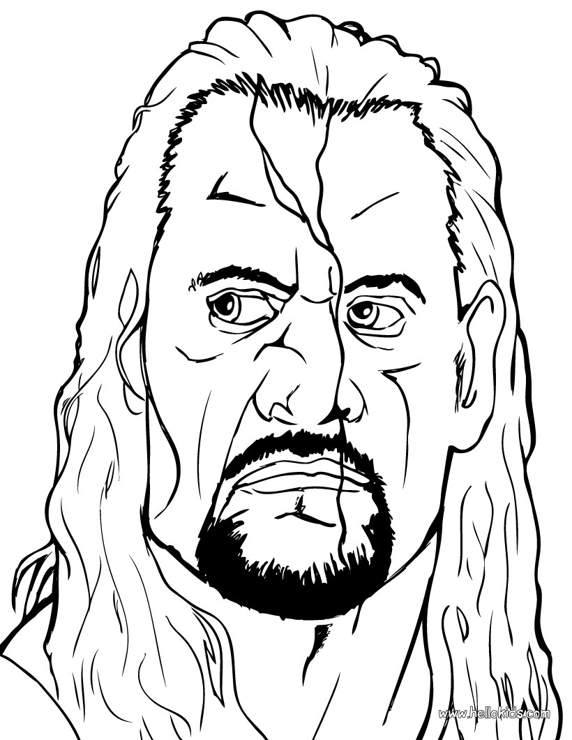 wwe coloring pages photo - 1